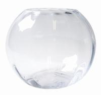 Glazen bolvaas met verticale ribbels in 2 afmetingen