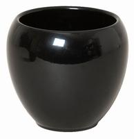 Keramieken bloempot Rian zwart