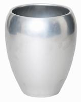 Keramieken vaas Rian zilver in meerdere afmetingen