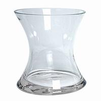 Knikvaas glas 19 cm van dik glas