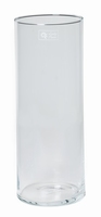 Cilinder vaas glas Ø 15 cm met een hoogte van 40 cm