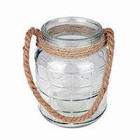 Glas Cruz met touw in 3 afmetingen - Ø 19,5 cm H 27 cm