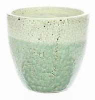 Keramieken bloempot Fracture crème 17 cm