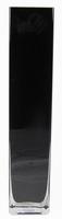 Accuvaas zwart glas 10 cm breed 50 cm hoog heavy glas