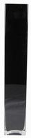 Accuvaas zwart glas 10 cm breed 60 cm hoog heavy glas