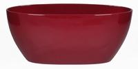 Keramieken plantenschaal ovaal Femke wijn rood