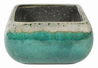 Keramieken plantenschaal Tijn ocean green