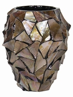 Bloempot Shell Mother of Pearl brown