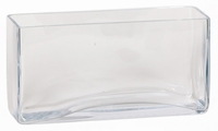 Accubak rectangular langwerpig lang heavy glas