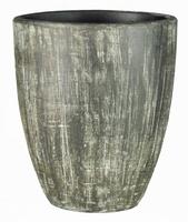 Keramieken vaas Congo bruin ovaal 38,5 cm