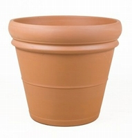 Terracotta plantenbak Doppio Bordo Ø 60 cm