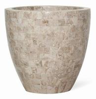 Plantenschaal ovaal Geo cappuccino marble