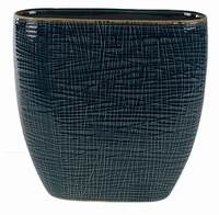 Keramieken planter Lotte denim blue in 2 afmetingen