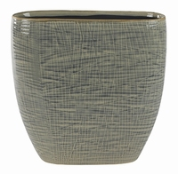 Keramieken planter Lotte light grey in 2 afmetingen