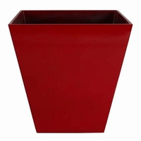 Bloempot Ella glossy red hoekig Art en Vogue in 2 afmetingen