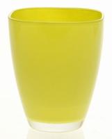 Glaspot gekleurd lime heavy glas