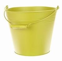 Zinken emmer vintage groen Ø 24,5 cm