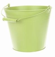 Zinken emmer in pastel groen Ø 28 cm