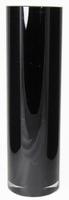 Cilinder vaas zwart glas Ø 15 cm 50 cm hoog