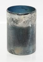 Cilinder vaas van glas Barna blauw heavy glas