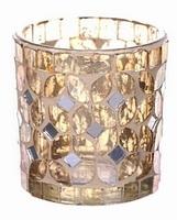 Waxinelichthouder Fercé goud klein