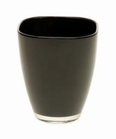 Glaspot gekleurd zwart heavy glas