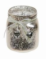Candleholder van glas Damar metallic gold
