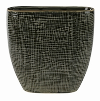 Keramieken planter Lotte old green