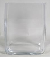 Accubak glas hoog vierkant 20 cm x 25 cm heavy glas