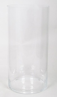 Cilinder vaas glas Ø 25 cm met een hoogte van 50 cm