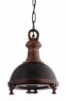 Hanglamp aluminium black lamp with iron S PTMD