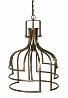 Denli brass Iron hanging lamp open design round L PTMD
