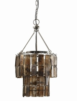Philon brass Glass leaves chandelier 2 parts s PTMD