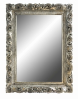 Spiegel Queenly silver chic poly rectangle mirror L PTMD