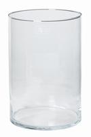 Cilinder vaas glas Ø 20 cm met een hoogte van 30 cm