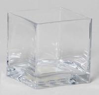 Accubak glas laag vierkant 20 cm x 15 cm heavy glas
