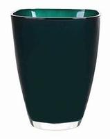 Glaspot gekleurd grey petrol heavy glas