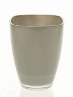 Glaspot gekleurd grey heavy glas