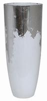 Plantenbak Luxe Lite Glossy wit bladzilver 91 cm