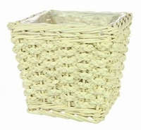 Pot Colo vierkant M gebleekt riet