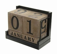 Kalenderblok Vernaz bruin MAR10