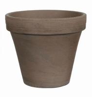 Terracotta plantenpot Stan grijs basalt 22 cm