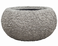 Plantenschaal Kamelle Raw grey M polystone coated