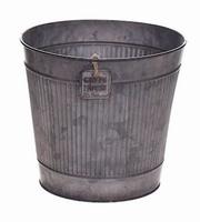 Zinken pot Rinco grijs small