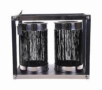 Lantaarn Barsac zwart glas MAR10