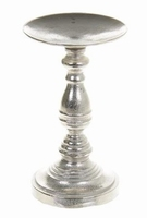 Kaarsenhouder Kaci metaal zilver medium