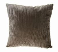 Sierkussen Juvigny grijs van stof 45 cm MAR10