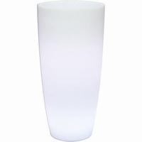 LED Plantenbak Lumenio rond hoog kunststof