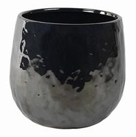 Keramieken bloempot Lieke pearl black 22 cm