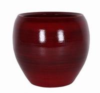 Keramieken bloempot Cresta rood XL